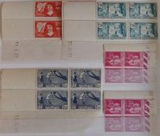France Superbe Collection De 61 Blocs De 4 Coins-datés Neufs ** MNH 1936/1941. TB. A Saisir! - Coins Datés