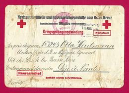 Correspondance De Prisonnier De Guerre - Kriegsgefangenen - Croix Rouge - 1939-45