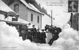CPA De PONTARLIER - Tournant De La Cluse. Les Rosiers Dans La Neige. Edit. Faivre-Locca. Circulée En 1907. - Pontarlier