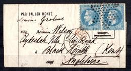 """France Superbe Ballon Monté """"Le Général Renault"""" Décembre 1870. Signé Et Certificat Calves. TB. A Saisir! - 1870 Siège De Paris"""