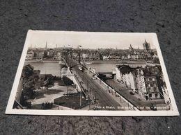 ANTIQUE PHOTO POSTCARD GERMANY - KOLN - BLICK VON DEUTZ AUF DIE HANGEBRUCKE CIRCULATED 1961 - Koeln