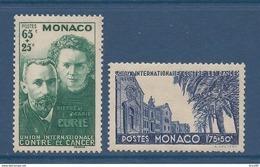 Monaco - YT N° 167 Et 168 - Neuf Avec Charnière - 1938 - Monaco