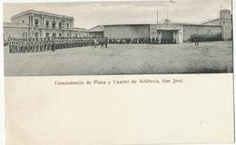 San José  Comandancia De Plaza Y Cuartel De Artilleria  Edicion Lehmann No 31 Dorso No Dividido - Costa Rica