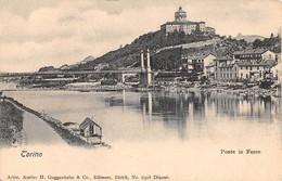 """1522 """"TORINO - PONTE DI FERRO"""" CART. POST. ORIG. NON SPED. - Brücken"""