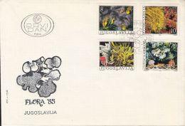 FLORA, SEAWEEDS, ALGAE, MARINE PLANTS, COVER FDC, 1985, YUGOSLAVIA - Vegetales