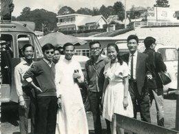 PHoto Des Missionnaires à Da Lat Vietnam Viet Nam Années 1950 - Places