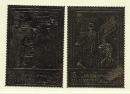 RAS EL KHAIMA ( AS- 424 )  PONPIDOU KENNEDY TIMBRE OR - Timbres