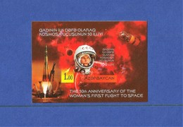 Azerbaijan 2013 .  INPERFORATED S/Sheets  The 50-th Anniversary Of The Woman First Flight To Space - Azerbaiján