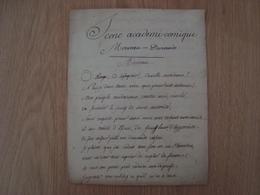 MANUSCRIT SCENE ACADEMI-COMIQUE MORVEAU DURANDE - Manuscrits