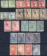 YUGOSLAVIA (SHS) Slovenia 1919 Zig-zag Roulette Issues With Shades, Used.  Michel 100 II C - 110 II C, SG 107-115 - 1919-1929 Kingdom Of Serbs, Croats And Slovenes