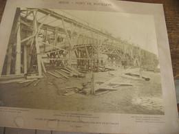 TOP !!  Photo Sur Carton - Construction Du Pont De ROUILLON Sur La Meuse En 1905 ( Namur) B236 - Places