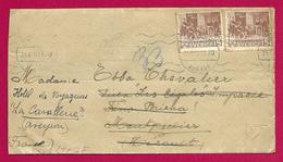 Enveloppe Ouverte Par L'Armée Allemande - Voyagée De Suède Vers Montpellier Puis Vers La Cavalerie - 1939-45