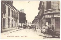 Cpa Saint André De L'Eure - Rue D'Ivry - France