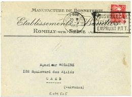 ROMILLY - SUR - SEINE AUBE 1950 Oblit. Franckers-Secap : VOUS VOULEZ LE TELEPHONE ? - Poststempel (Briefe)