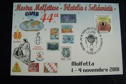 2001  AVIS  CROCE ROSSA   MOLFETTA  FDC    FIRST DAY  MAXIMUM - Croce Rossa