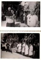 2 Photos Originales Revue Des Porteurs Par Les Curés Avant Le Défilé De La Procession Religieuse Vers 1930/40 - Professions
