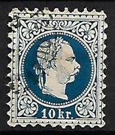 AUTRICHE    -  1867  .  Y&T N° 36 Oblitéré  . - 1850-1918 Empire