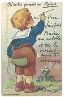 Cpa N'as Tu Jamais Vu Reims ( Système Dépliant Dans La Culotte De L'enfant, Recoupée Bord Haut ) - Reims