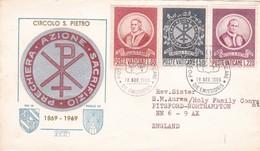 VATICANO CIRCOLO SAN PIETRO VIAGGIATA 1969 - FDC