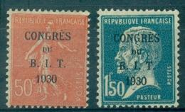 FRANCE N° 264 / 265 N X (légère ) Congrès Du B I T .TB.cote : 23.75 €. - France