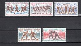 CONGO PA  N°  129 à 133  NEUFS SANS CHARNIERE  COTE  8.00€   JEUX OLYMPIQUES - Congo - Brazzaville