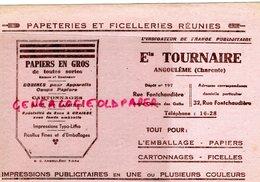 16- ANGOULEME- BUVARD ETS. TOURNAIRE PAPETERIE FICELLERIE- PAPIERS-CATONNAGE-CODIFICATION AUTOMOBILES - Stationeries (flat Articles)