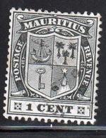 Mauritius Queen Victoria 1910 One Cent Black Stamp. - Mauritius (...-1967)