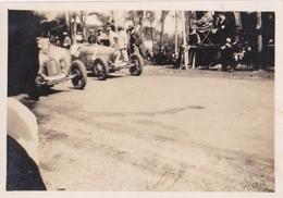 Photo Ancienne  Antibes Course Automobile Départ De La Course  Bret Et Cluron Sur Bugatti 1928 - Cars