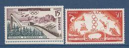 Monaco - YT N° 442 Et 443 - Neuf Sans Charnière Sauf Le N° 443 Avec Charnière - 1956 - Monaco