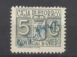 6224A-SELLO FISCAL LOCAL CORPORATIVO 1939-42.CAJA AHORROS PROVINCIAL OVIEDO,ASTURIAS,RAROS.SPAIN REVENUE,ESCASOS. - Revenue Stamps