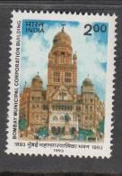INDIA, 1993, Centenary Of Bombay Municipal Corporation Building, MNH, (**) - India