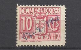 6224B-SELLO FISCAL LOCAL CORPORATIVO 1939-42.CAJA AHORROS PROVINCIAL OVIEDO,ASTURIAS,RAROS.SPAIN REVENUE,ESCASOS. - Revenue Stamps