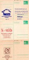 """(FC7) DDR 3 Versch.amtl. Ganzsachen M.priv.Zudruck""""Palast Der Republik 10Pf. Grün"""" P84/C152,C153,C154, Ungebraucht - [6] Democratic Republic"""