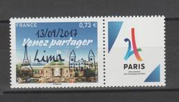 FRANCE / 2017 / Y&T N° 5144A ** : Candidature De Paris Aux JO 2024 Surchargé LIMA 13/09/17 - Gomme D'origine Intacte - France