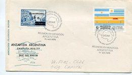 SOBRE ANTARTIDA ARGENTINA CAMPAÑA 1976/77 BASE SAN MARTIN OBLITERADO REUNION XIV MENDOZA ARGENTINA -LILHU - Polar Philately