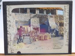 FINE '800 GROTTE( GIRGENTI) -MINIERA DI ZOLFO DIRETTA ING. F. HOFER N. 4 FOTO SU VETRO RARISSIME - Minerals