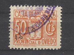 6224D-SELLO FISCAL LOCAL CORPORATIVO 1939-42.CAJA AHORROS PROVINCIAL OVIEDO,ASTURIAS,RAROS.SPAIN REVENUE,ESCASOS. - Revenue Stamps
