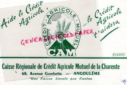 16- ANGOULEME- BUVARD  CREDIT AGRICOLE MUTUEL- CAM- 68 AVENUE GAMBETTA- BANQUE RARE - Bank & Insurance