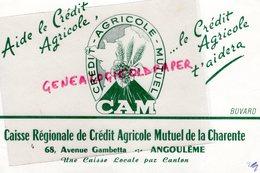 16- ANGOULEME- BUVARD  CREDIT AGRICOLE MUTUEL- CAM- 68 AVENUE GAMBETTA- BANQUE RARE - Banque & Assurance