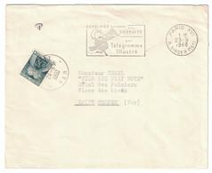 1960 - TIMBRE TAXE N° 93 50c VERT-FONCÉ SEUL SUR LETTRE NON-AFFRANCHIE De PARIS RUE SINGER Pour SAINT TROPES VAR TROPEZ - Postmark Collection (Covers)