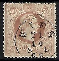 AUTRICHE    -  1867  .  Y&T N° 39 Oblitéré  . - 1850-1918 Empire