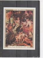 """CENTRAFRIQUE - Art - Peinture - Peter Paul RUBENS - Tableau """"Marie De MEDICIS"""" - 400 Ans De Sa Naissance - - Central African Republic"""