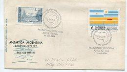 SOBRE ANTARTIDA ARGENTINA CAMPAÑA 1976/77 BASE MARAMBIO OBLITERADO REUNION XIV MENDOZA ARGENTINA -LILHU - Polar Philately