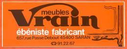 Autocollant Meubles Vrain ébéniste Fabricant 657 Rue Passe Debout 45400 SARAN - Stickers