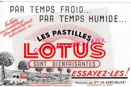 17- ROCHEFORT SUR MER- BUVARD PASTILLES LOTUS- ETS LA SPECIALITE - Produits Pharmaceutiques