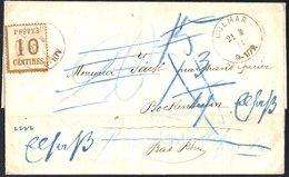 N°5 Sur Lettre De Colmar Pour Bockenheim Du 21/03/1871  LETTRE REFUSEE  3 Taxes Différentes - Alsace-Lorraine