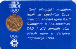 OLYMPIC GAMES SARAJEVO-LOS ANGELES ,MEDALION - Apparel, Souvenirs & Other