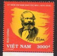 VIETNAM, 2018, MNH, KARL MARX,1v - Karl Marx
