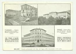 VARESE - VIGGIU' - MILANO - LE TRE CASE DELL'OSPIZIO NAZIONALE  VIAGGIATA FP - Varese