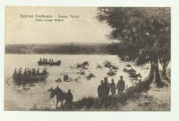 SOMMA LOMBARDO - FIUME TICINO - NUOTO CAVALLI MILITARI 1916  VIAGGIATA FP - Varese